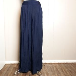 CHICO'S pleated maxi skirt